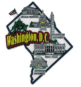USA map state magnet - DC