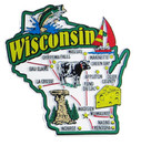 USA map state magnet - WI