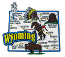 USA map state magnet - WY