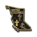 Canadian Province Magnet British Columbia with Capital