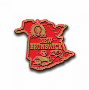 Canadian Territory Magnet New Brunswick with Capital