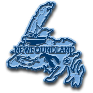 Canadian Province Magnet Newfoundland with Capital