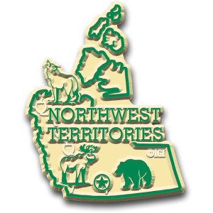 Canadian Territories Magnet Northwest Territories with Capital