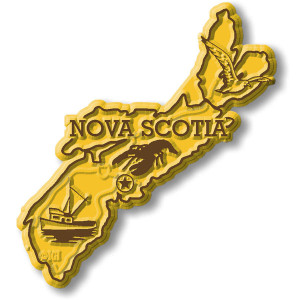 Canadian Province Magnet Nova Scotia with Capital