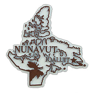 Territory Magnet Nunavut with capital