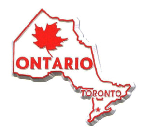 Ontario Canadian Province shaped Refrigerator Magnet