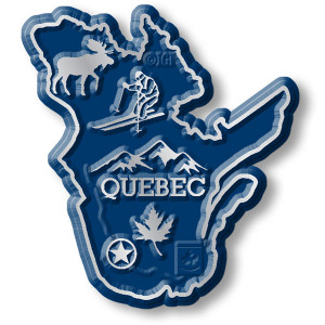 Canadian Province Magnet Quebec with Capital