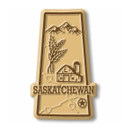 Saskatchewan Canadian Province shaped Refrigerator Magnet