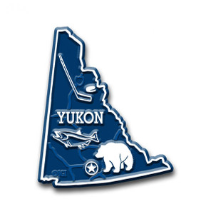 Canadian Province Magnet Yukon with Capital