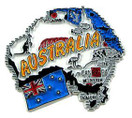 Australia country shaped magnetic map