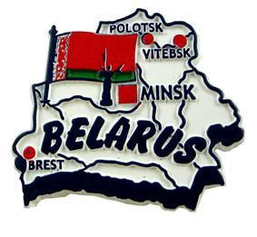 Belarus country shaped magnetic map