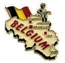 Belgium country shaped magnetic map