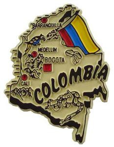 Colombia country shaped magnetic map