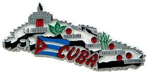 Cuba country shaped magnetic map