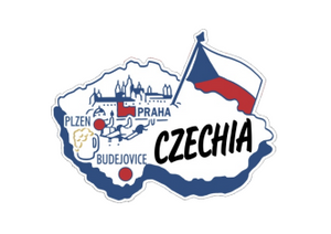 Czechia / Czech Republic country shaped magnetic map
