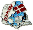 Denmark country shaped magnetic map