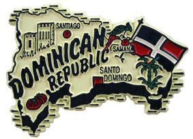 Dominican Republic country shaped magnetic map