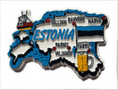 Estonia Country Shaped Magnet