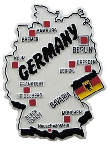 Germany country shaped magnetic map