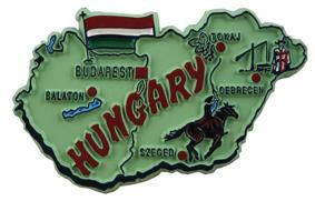 Hungary country shaped magnetic map