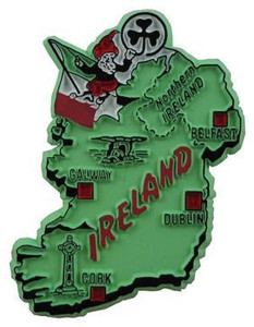 Ireland country shaped magnetic map