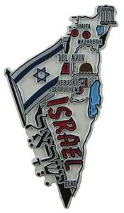 Israel country shaped magnetic map