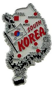 South Korea country shaped magnetic map