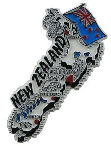 New Zealand country shaped magnetic map