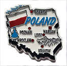 Poland Country Shaped Magnet