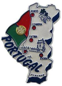Portugal country shaped magnetic map
