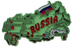 Russia country shaped magnetic map