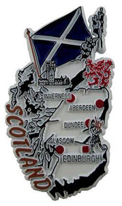 Scotland GB country shaped magnetic map