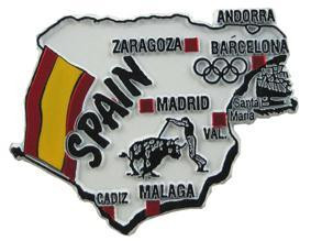 Spain country shaped magnetic map