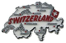 Switzerland country shaped magnetic map