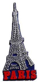 Eiffel Tower, Paris, Europe souvenir magnet