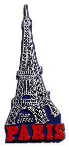 Eiffel Tower, Paris, Europe souvenir magnet