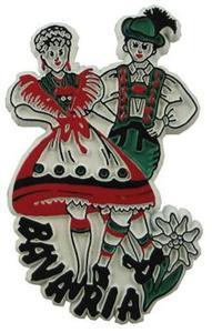 Bavaria Dancers Germany, Europe souvenir magnet