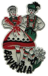 Bavaria Dancers Germany, Europe souvenir magnet