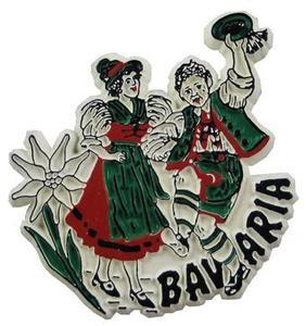 Bavaria Folklore Dancers, Europe souvenir magnet