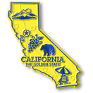 State Magnet -  California with Capital