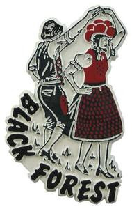 Black Forest Dancers, Europe souvenir magnet