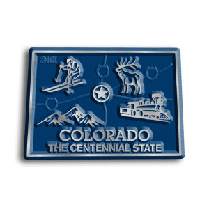 State Magnet -  Colorado with Capital