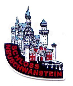 Neuschwanstein Castle Germany, Europe souvenir magnet