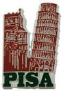 Pisa Italy, Leaning Tower, Souvenir Fridge Magnet