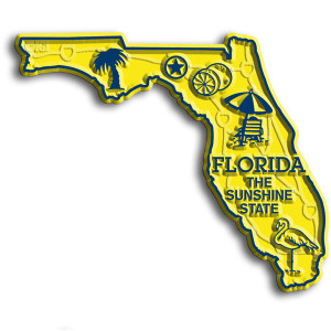 State Magnet -  Florida with Capital