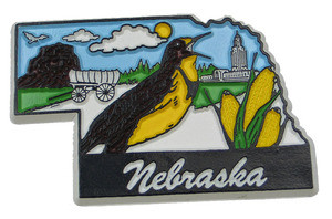 Souvenir state magnet – Nebraska