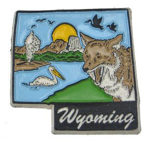 Souvenir state magnet – Wyoming