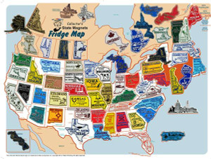 US States / Canada State Magnet Set and Collector's Map