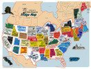US State Magnet Set and Collectors Map Board