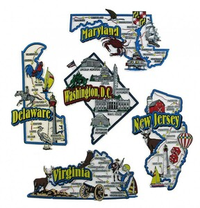 DE, MD, NJ, VA, DC map state magnets
